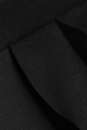 REDValentino Pleated cotton-blend mini skirt