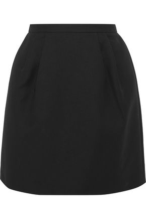 REDValentino Pleated cotton-blend mini skirt