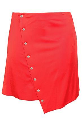 PACO RABANNE 装飾付きスナップ ストレッチ ジャージ ミニ ラップスカート