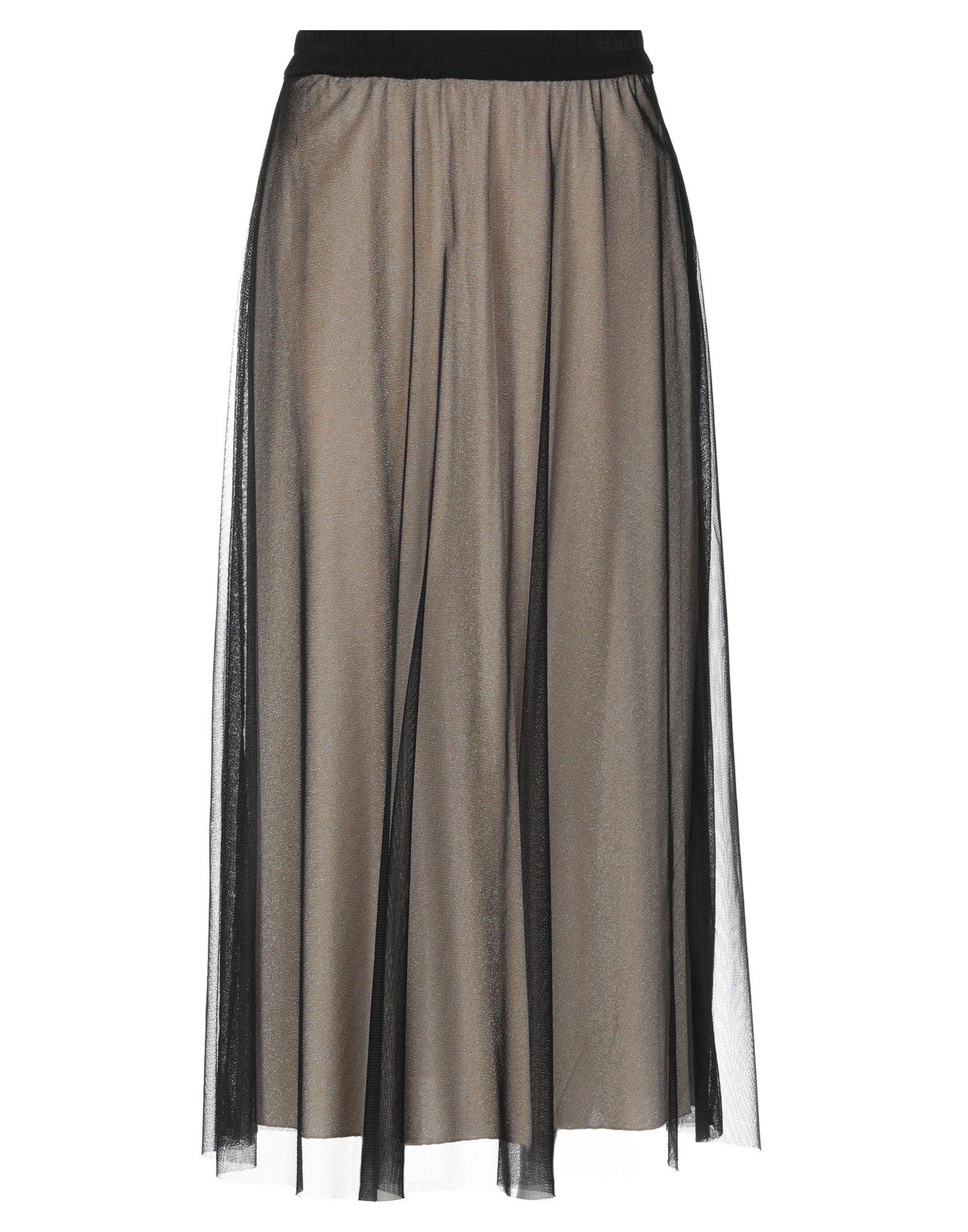 《送料無料》MOU ITALY レディース 7分丈スカート ブラック M ナイロン 100%