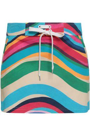 REDValentino Striped cotton-blend twill mini skirt