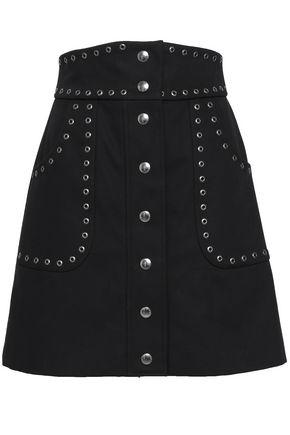 REDValentino Eyelet-embellished cotton-blend mini skirt
