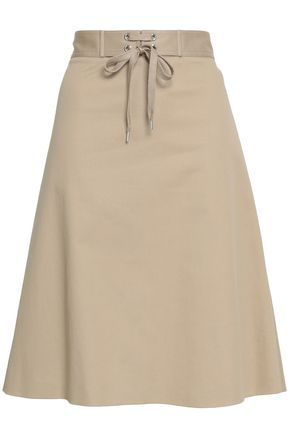 REDValentino Stretch-cotton gabardine skirt