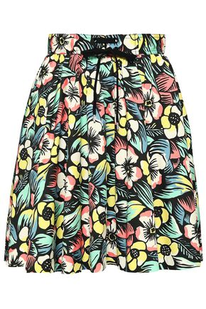REDValentino Floral-print stretch-cotton skirt