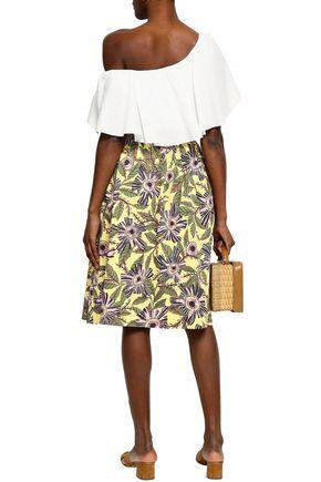 REDValentino Floral-print stretch-cotton skirt