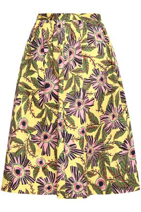 6cba81ae12d REDValentino Floral-print stretch-cotton skirt