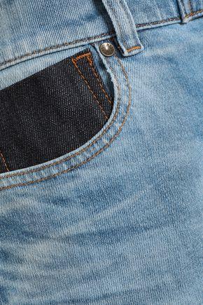 REDValentino Patchwork denim mini skirt