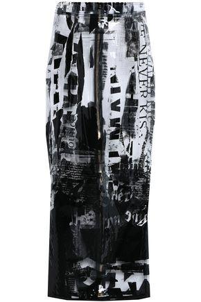 BALMAIN Printed PVC midi skirt