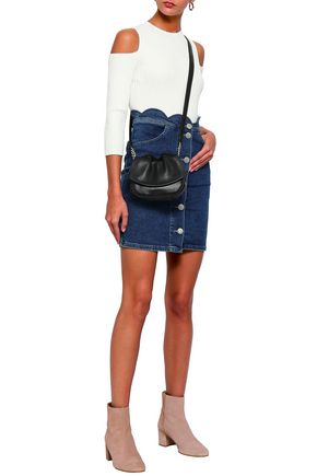 MAJE Jaron scalloped denim mini skirt