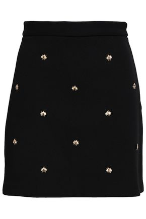 MAJE Stretch-crepe mini skirt