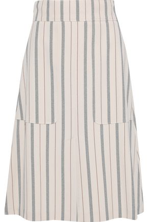 SEE BY CHLOÉ Striped crepe skirt