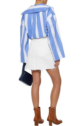 AMO Gemma distressed denim mini skirt