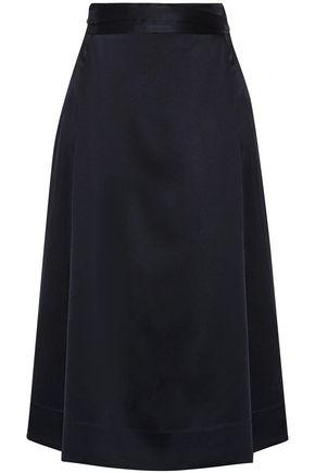 PROTAGONIST Charmeuse midi wrap skirt
