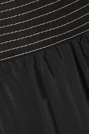 CASASOLA Pleated taffeta midi skirt