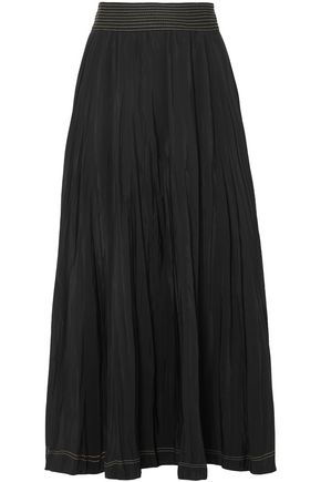 CASASOLA Pleated taffeta midi skirt