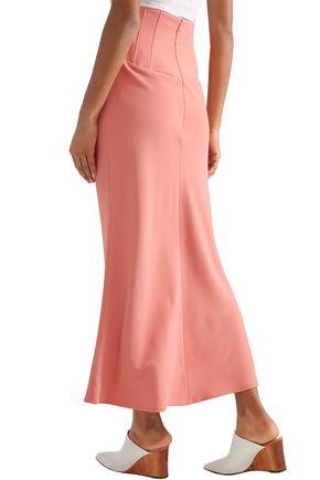 TOME Stretch-crepe midi skirt