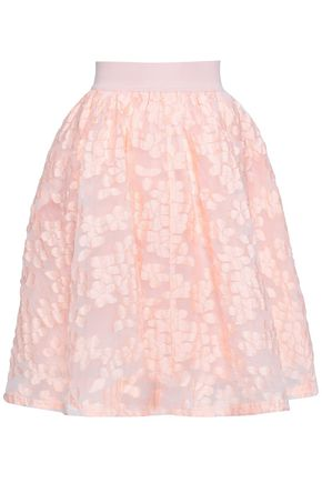 MAJE Fil coupé flared skirt