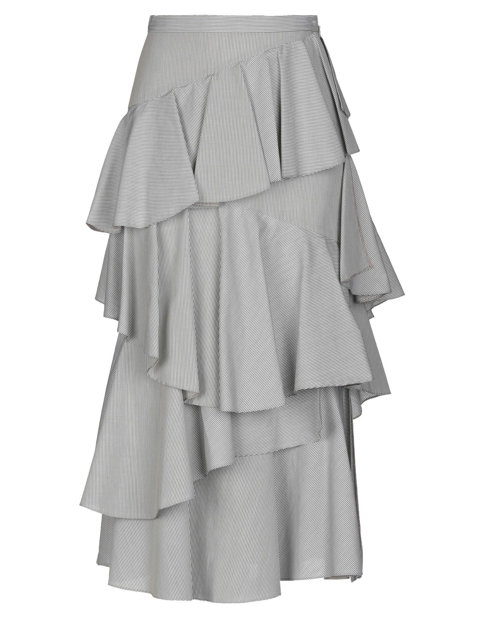 《送料無料》ALEXACHUNG レディース 7分丈スカート ホワイト 6 コットン 100%
