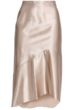 NARCISO RODRIGUEZ Asymmetric silk-satin skirt