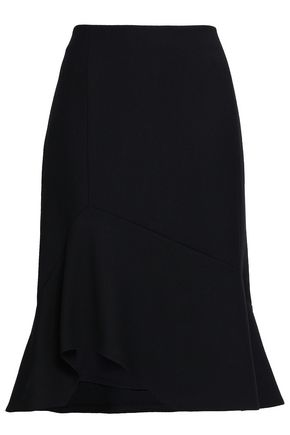 NARCISO RODRIGUEZ Fluted wool-twill skirt