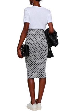 ZOE KARSSEN Striped stretch-jersey skirt
