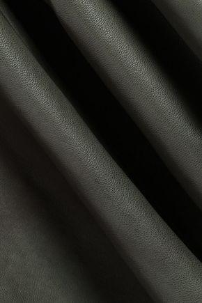 KATE SPADE New York Flared leather skirt