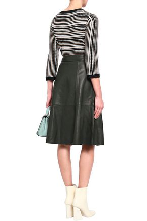 KATE SPADE New York Flared leather skirt
