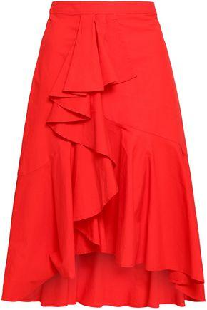 JOIE Chesmu ruffled cotton-poplin skirt