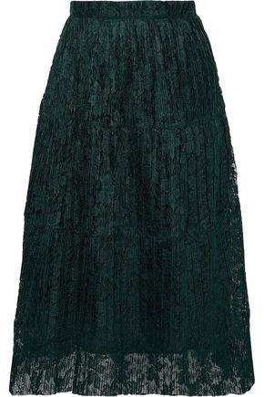 SEE BY CHLOÉ Plissé-lace midi skirt