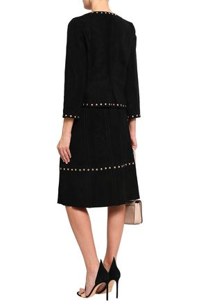 KATE SPADE New York Baja Bound studded suede skirt