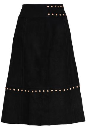 KATE SPADE New York Baja Bound studded suede skirt
