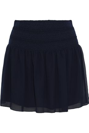 SEE BY CHLOÉ Smocked chiffon mini skirt