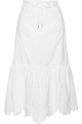 Broderie Anglaise Cotton Poplin Midi Skirt by See By ChloÉ