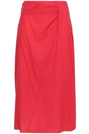 VINCE. Gathered cotton midi skirt