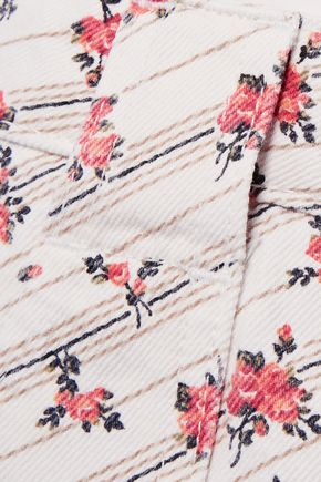 RE/DONE Floral-print cotton-twill mini skirt