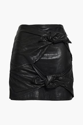 ISABEL MARANT ÉTOILE Knotted leather mini skirt