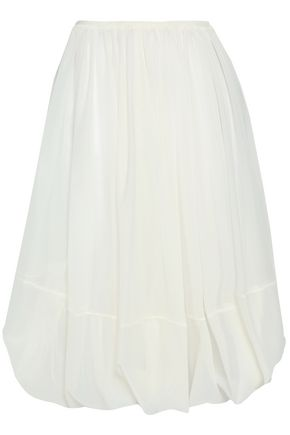 JIL SANDER Gathered woven skirt