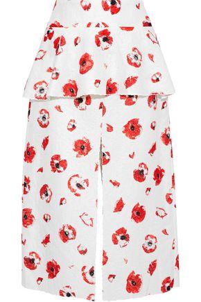 PROENZA SCHOULER Floral-jacquard peplum midi skirt