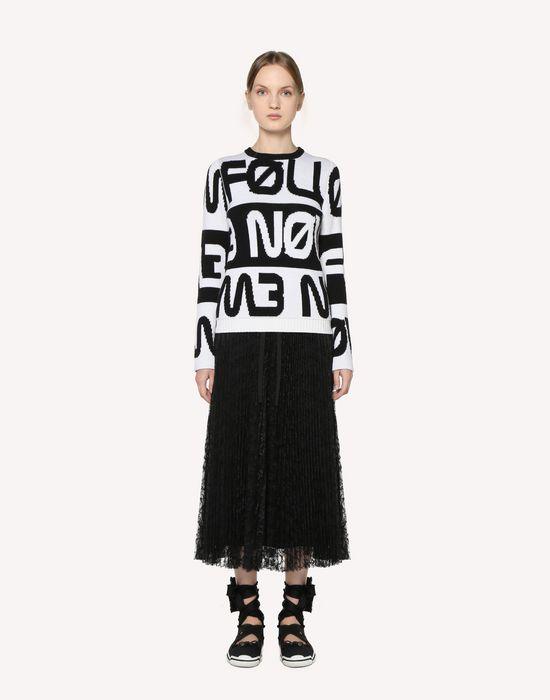 3ba3df4fa7 REDValentino Pleated Lace Skirt - Midi Skirt for Women   REDValentino E- Store