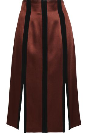 DIANE VON FURSTENBERG Striped satin skirt