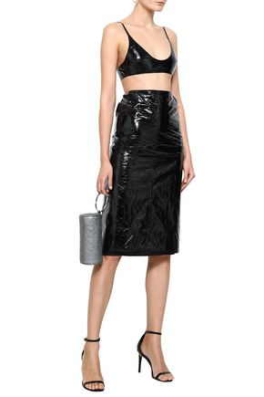 GEORGIA ALICE Crushed vinyl skirt