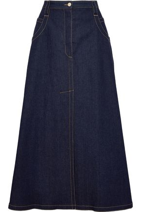 NINA RICCI Flared denim midi skirt