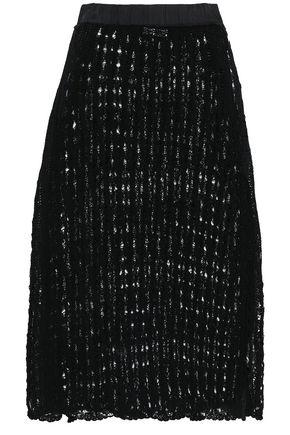 JIL SANDER Crocheted cotton midi skirt