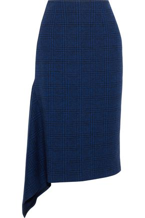 JASON WU Asymmetric checked wool skirt