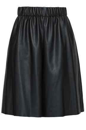 M MISSONI Gathered faux leather shorts