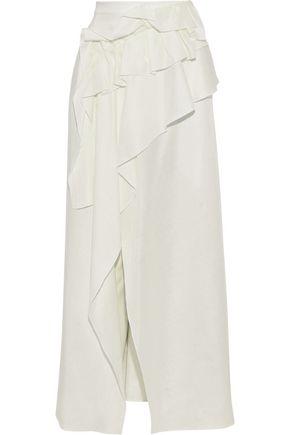 DELPOZO Ruffled gauze maxi skirt