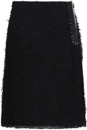 SONIA RYKIEL Tweed wrap skirt