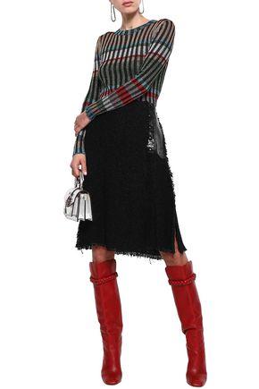 SONIA RYKIEL Tweed wrap skirt
