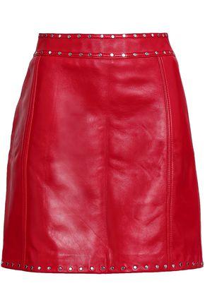 CLAUDIE PIERLOT Studded leather mini skirt