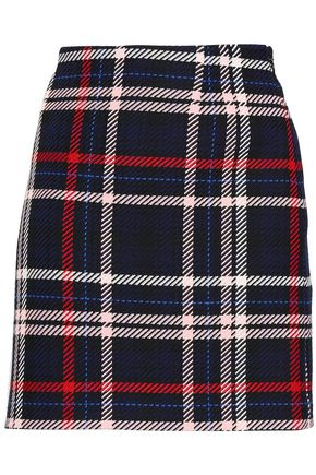 CLAUDIE PIERLOT Steph checked woven mini skirt
